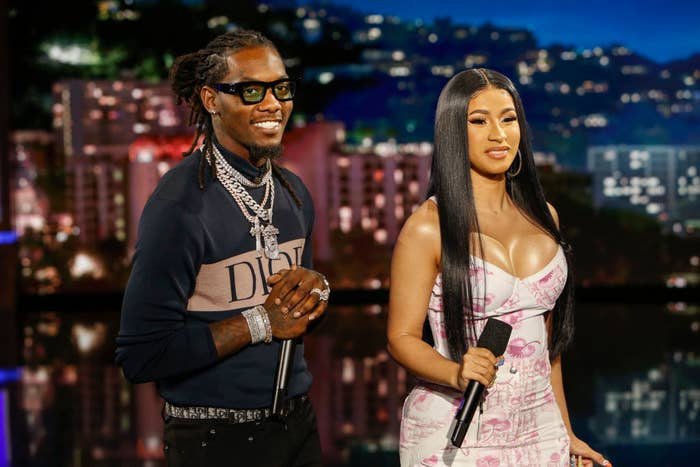 Cardi and Offset on Kimmel