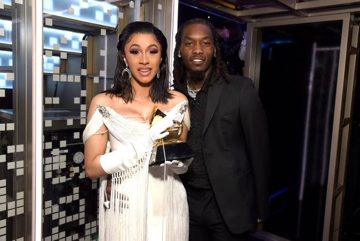 Cardi and Offset at the Grammys
