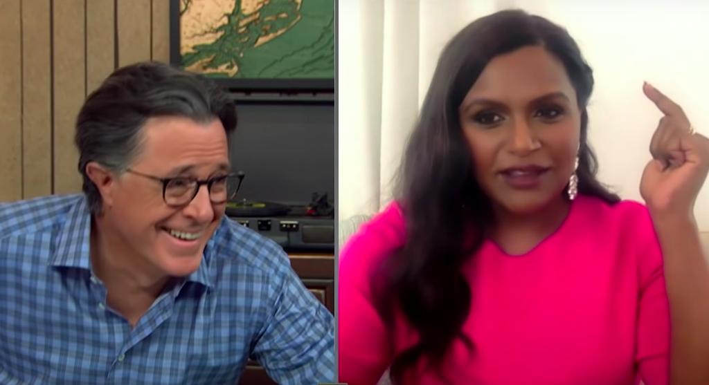 Mindy Kaling on Stephen Colbert's talk show