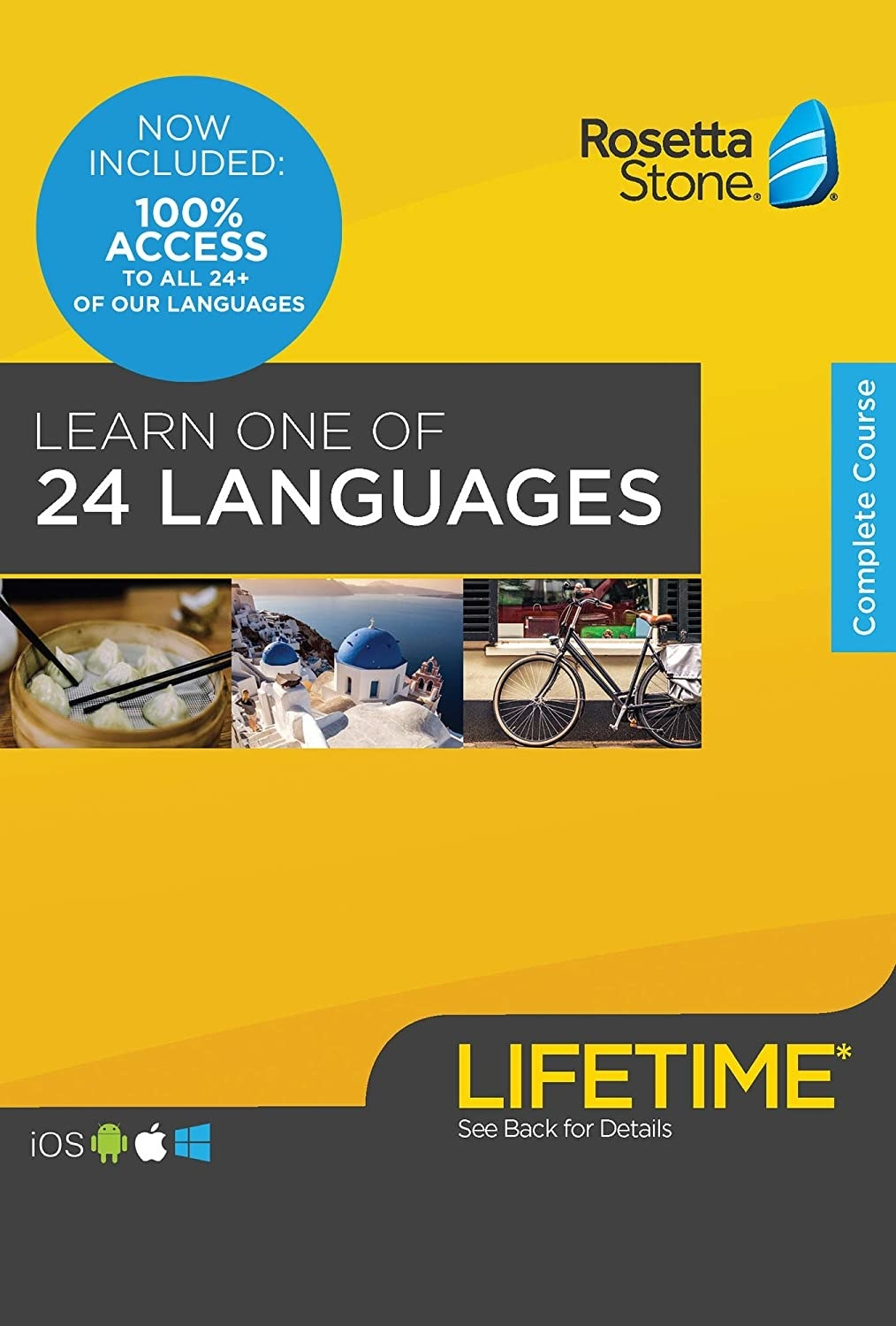 A cover of a course book for Rosetta Stone language company