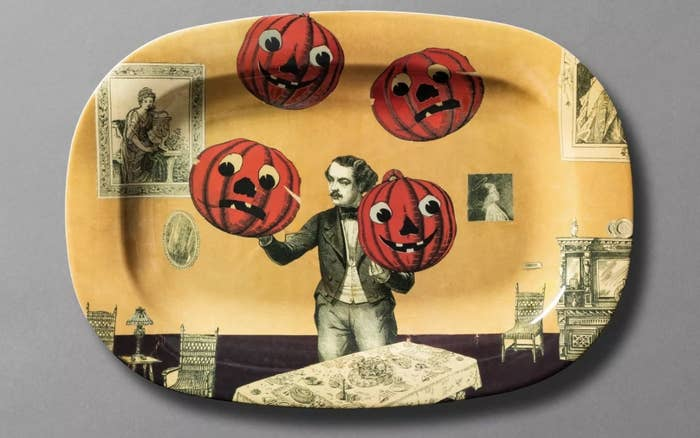 Pumpkin juggler designed serving tray