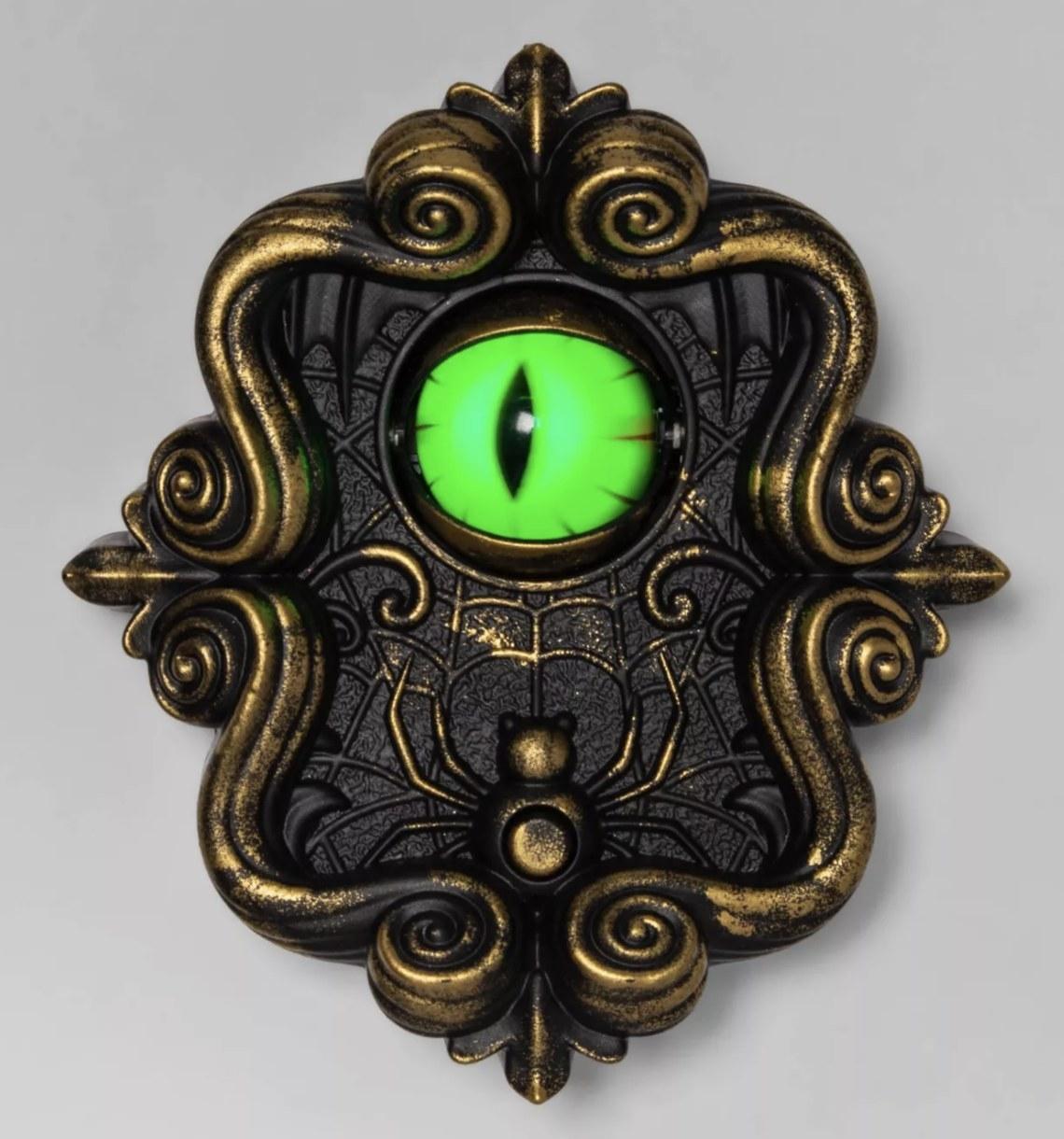Animated dragon eye doorbell