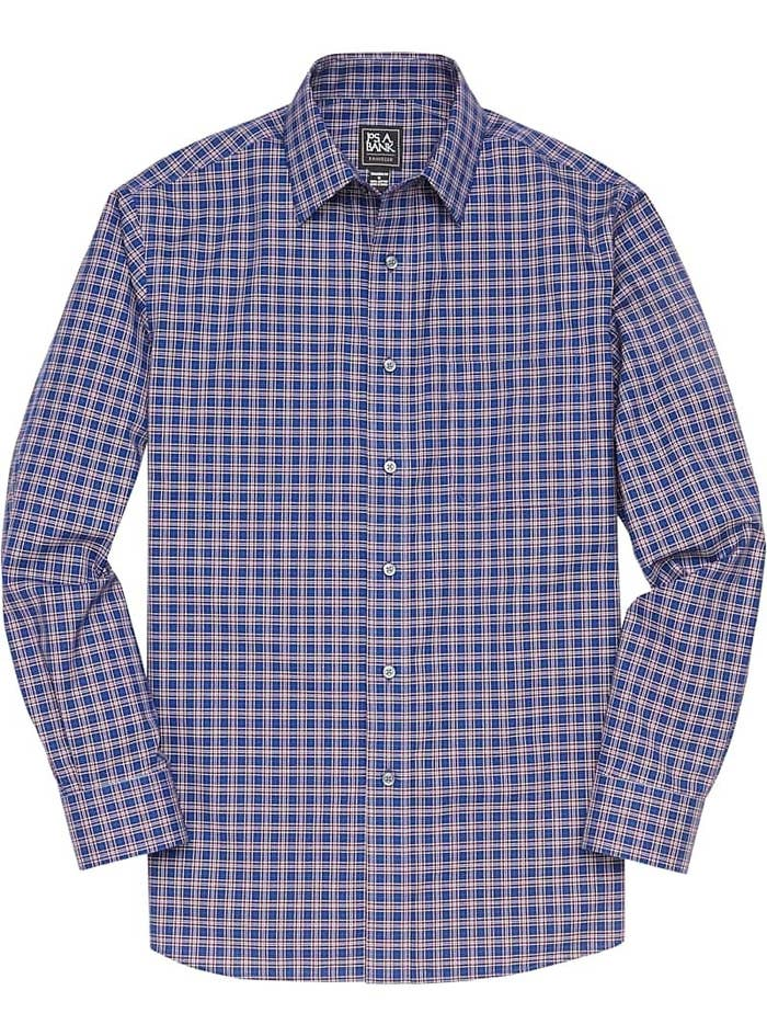 flat lay of traveler collection plaid sportshirt