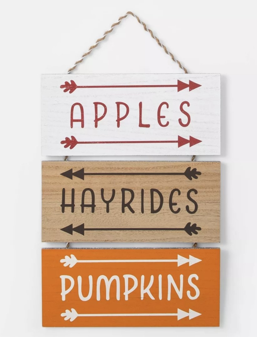 Harvest fall hanging sign