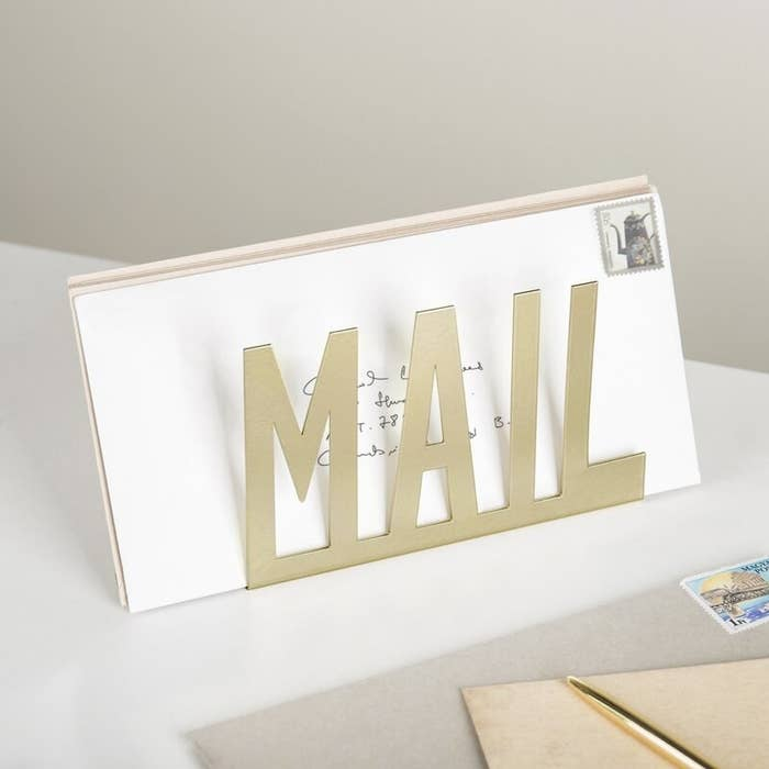 The mail organizer with mail