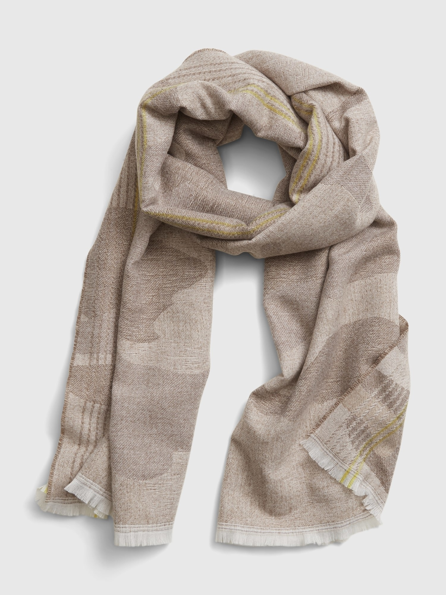 The beige camo scarf