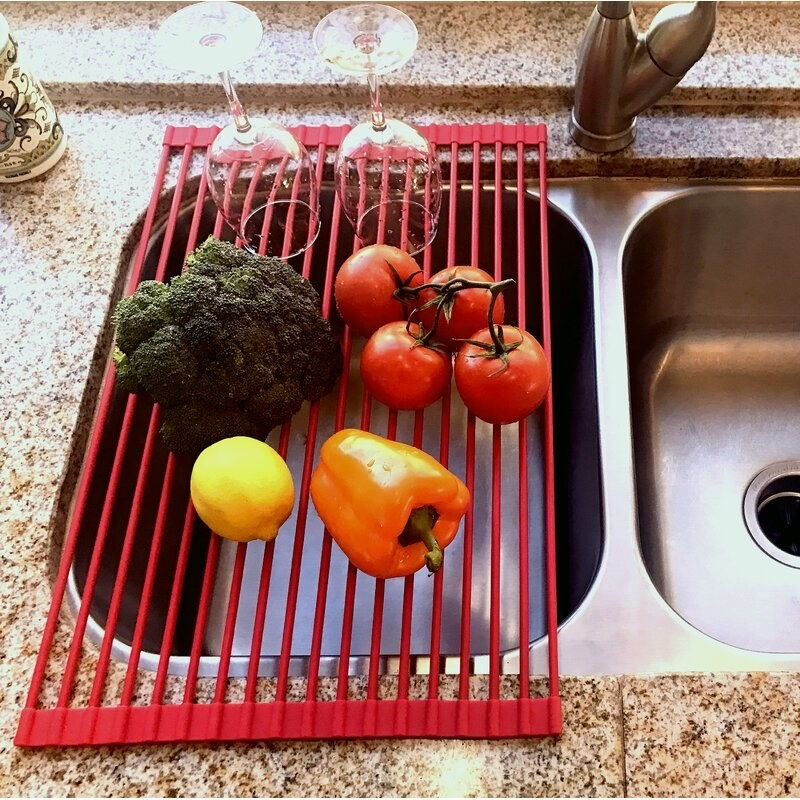 The red drain tray