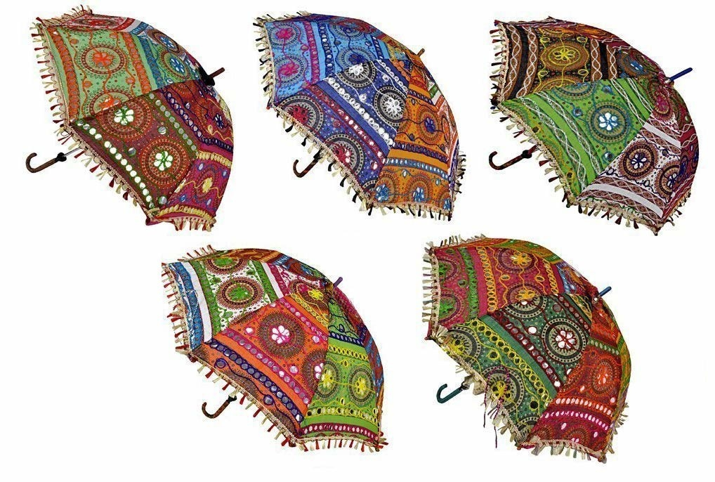 A set of umbrellas