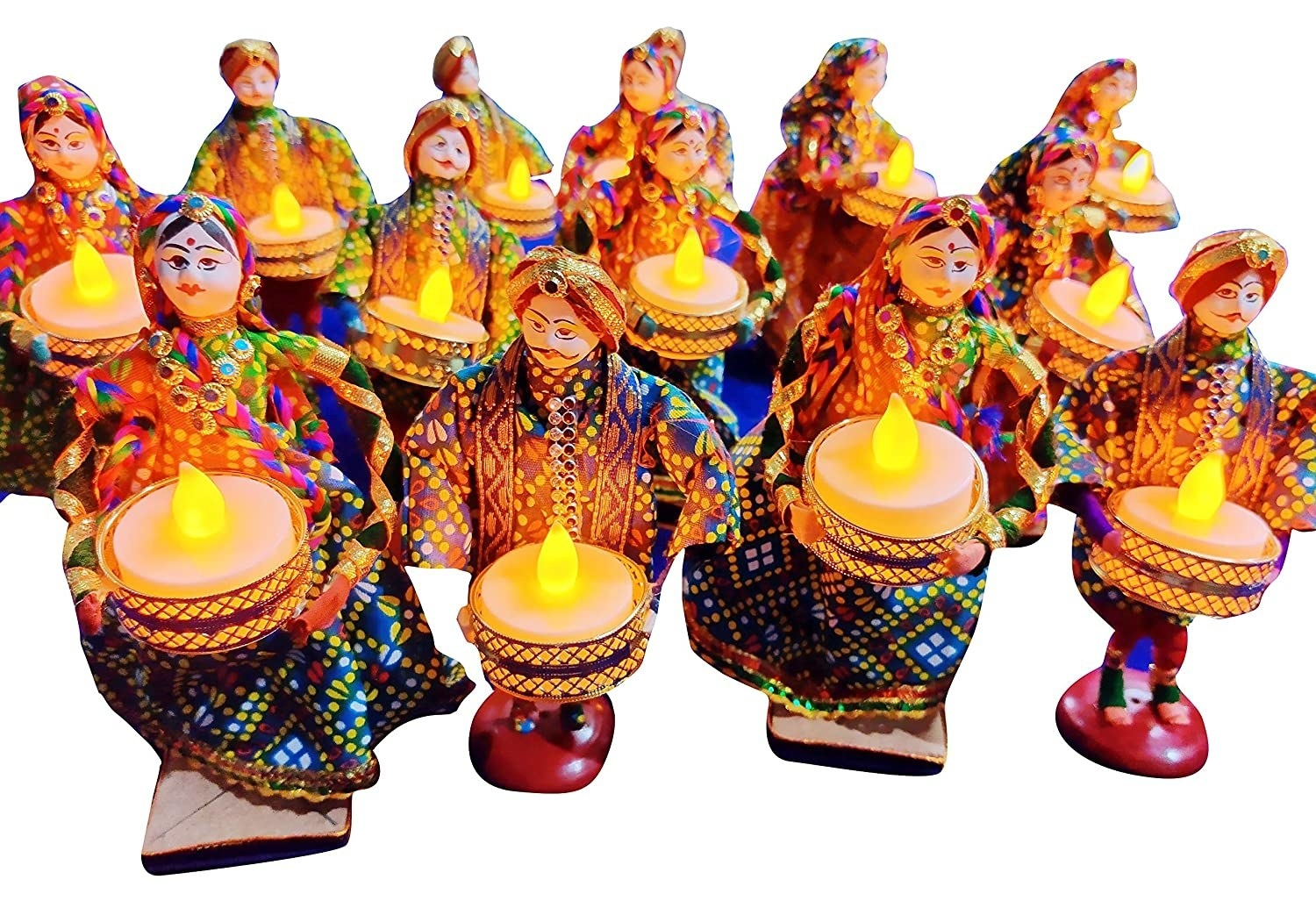 A Rajasthani puppet candle holder