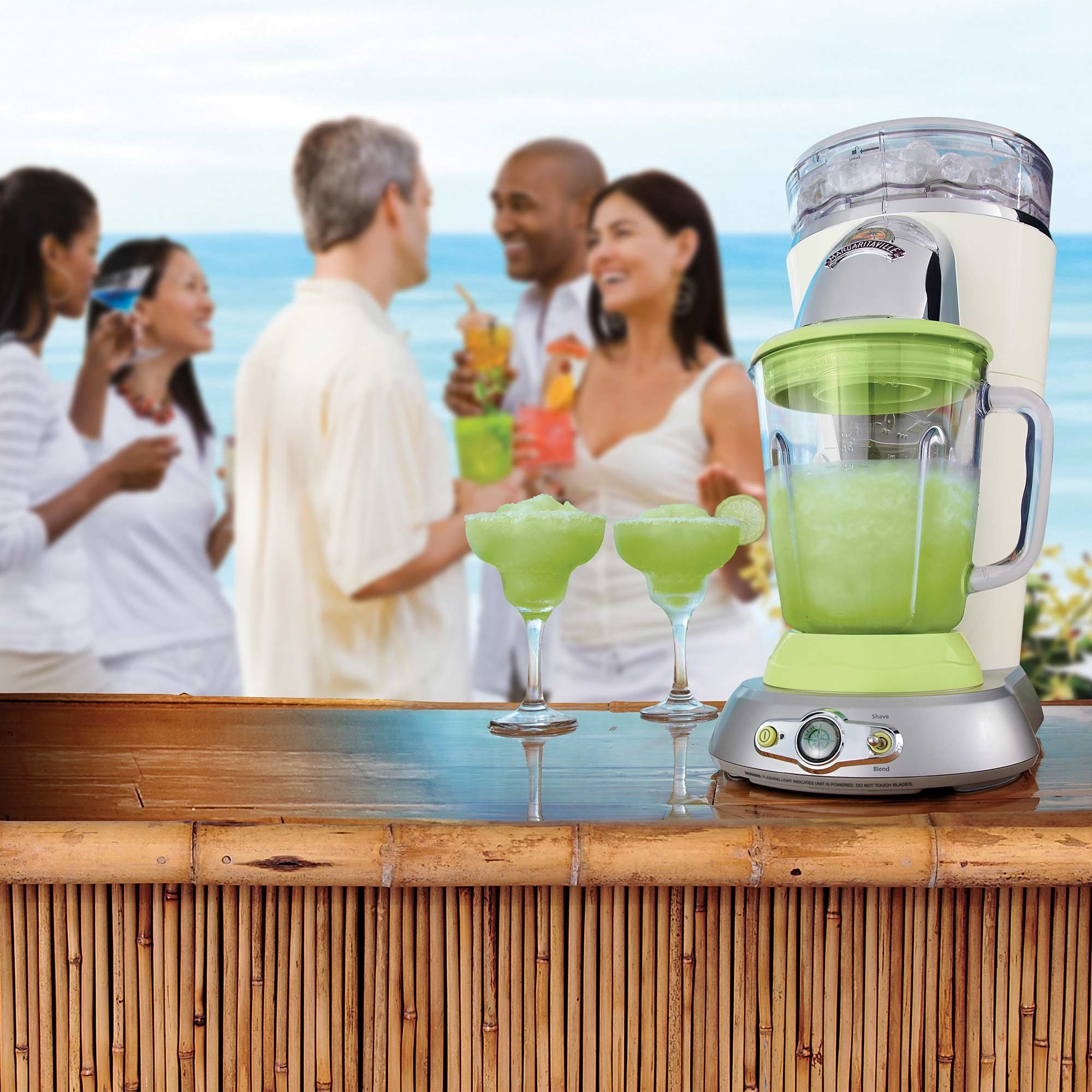 Green and white frozen drink and concoction maker