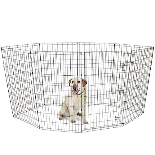Black exercise play pen