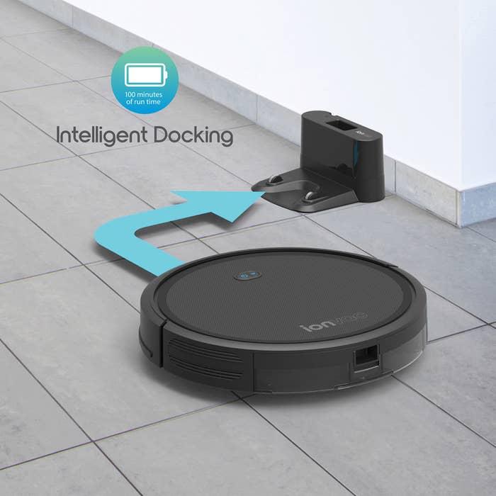 Black smart vacuum