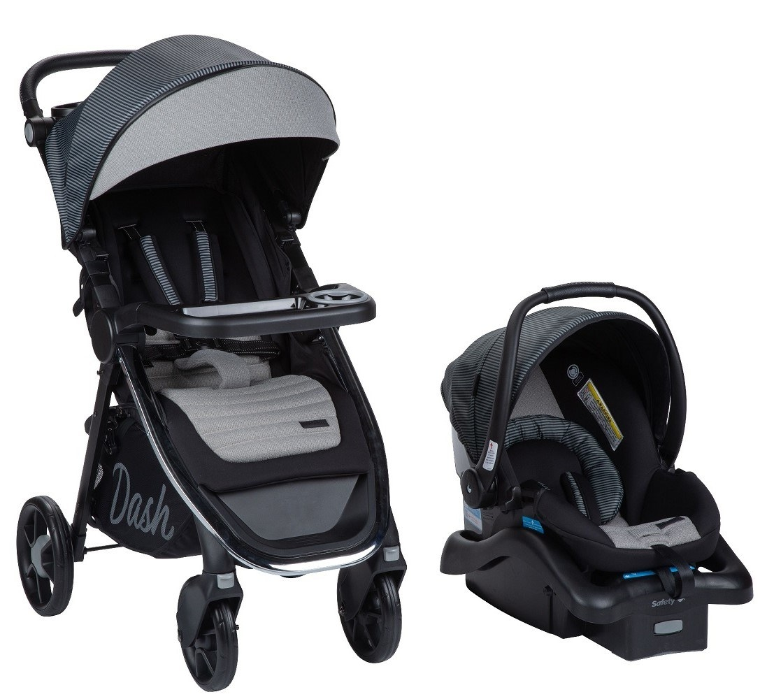 The stroller and the carrier/ car seat