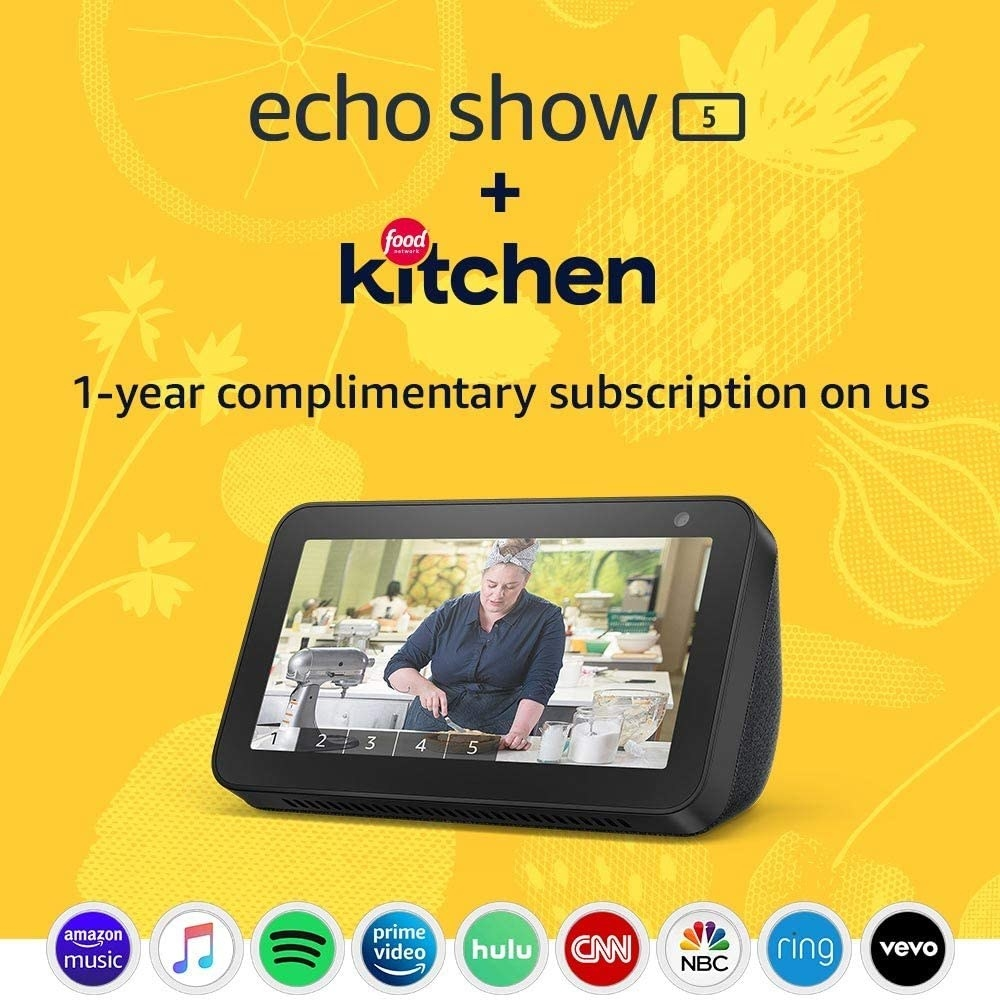 The Echo show, a small rectangular device with video screen