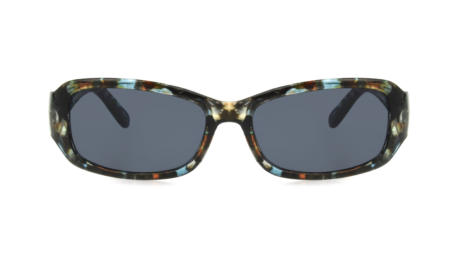 rectangle sunglasses in brown turquoise
