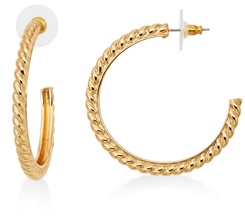 Twisted rope hoop earrings