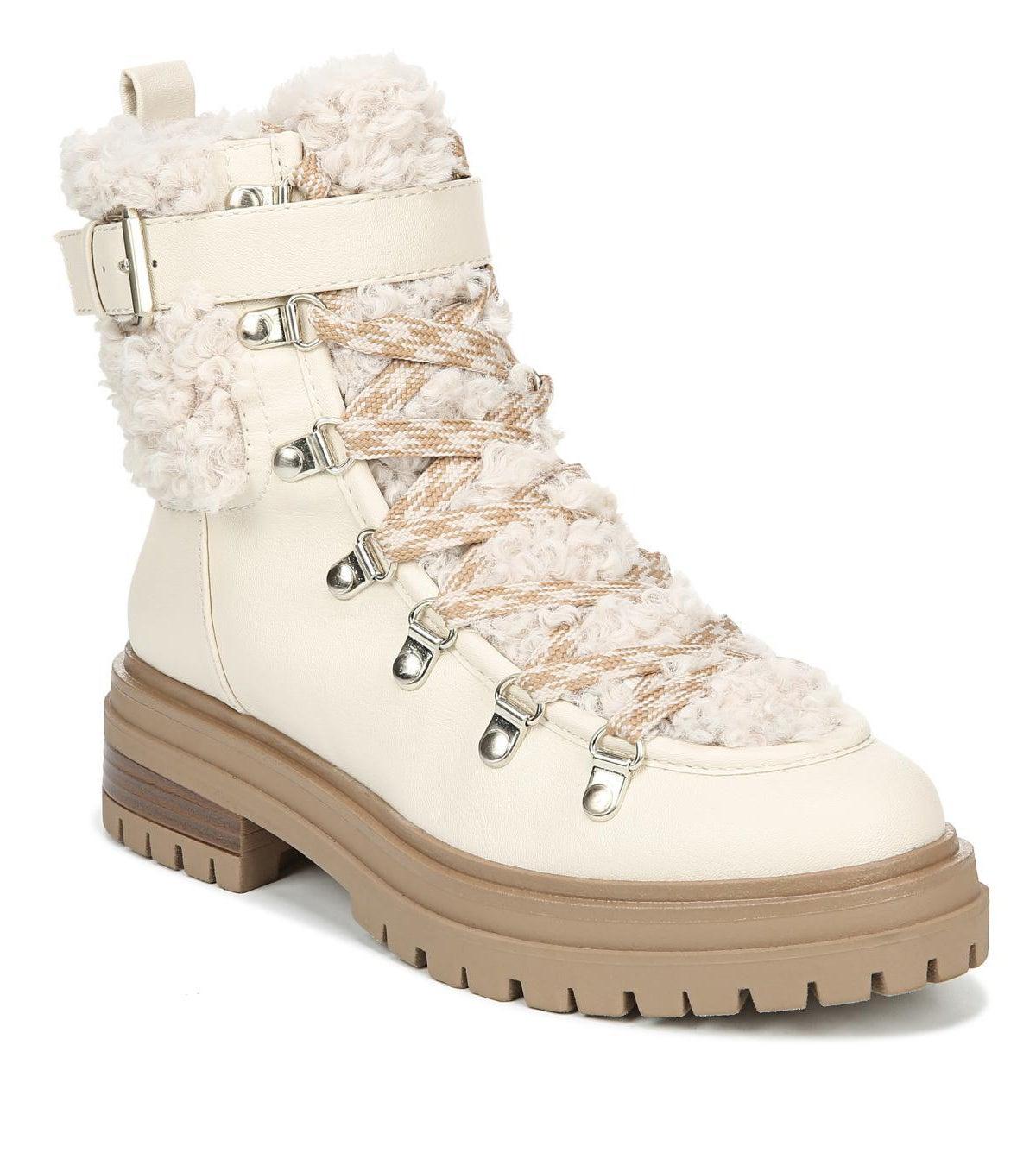 shearling hiking boots