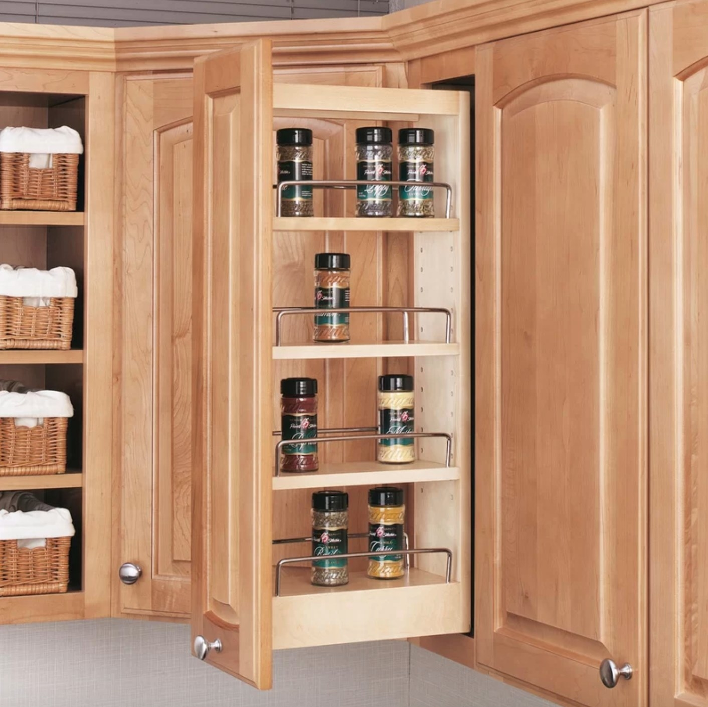 The wall organizer cabinet pull out pantry