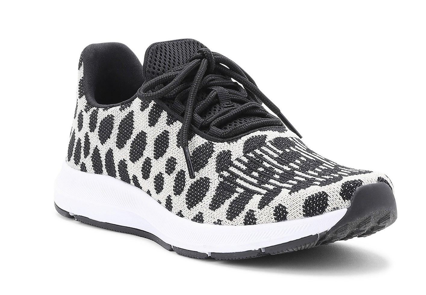 Leopard running sneakers