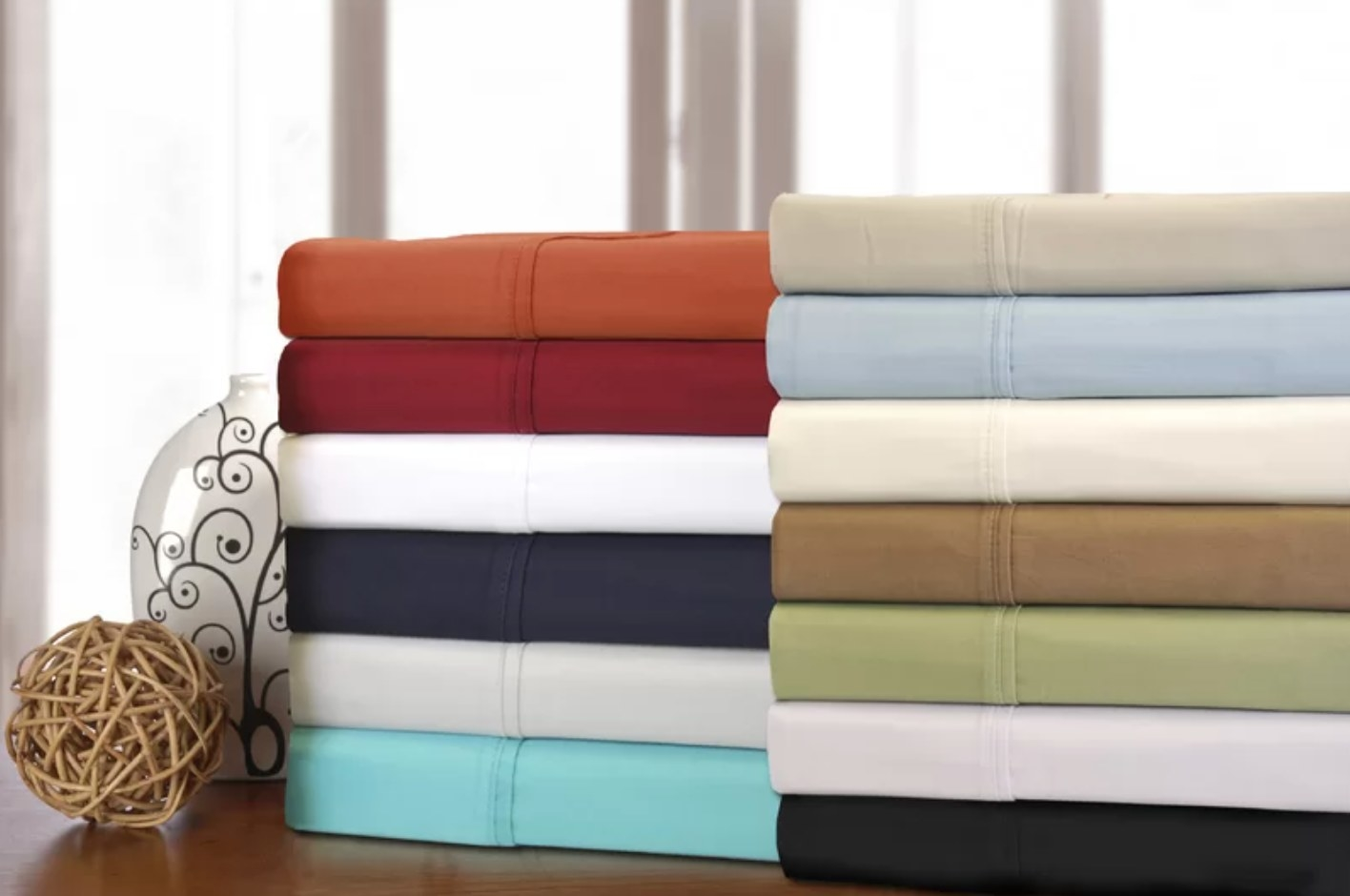 the cotton sheet set in multiple colors