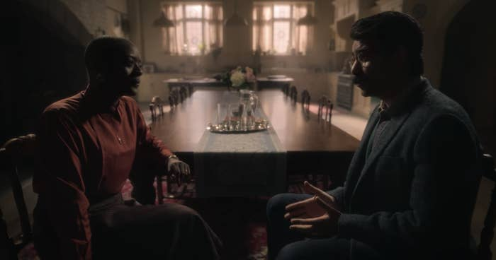 "T'Nia Miller and Rahul Kohli in ""The Haunting of Bly Manor"""
