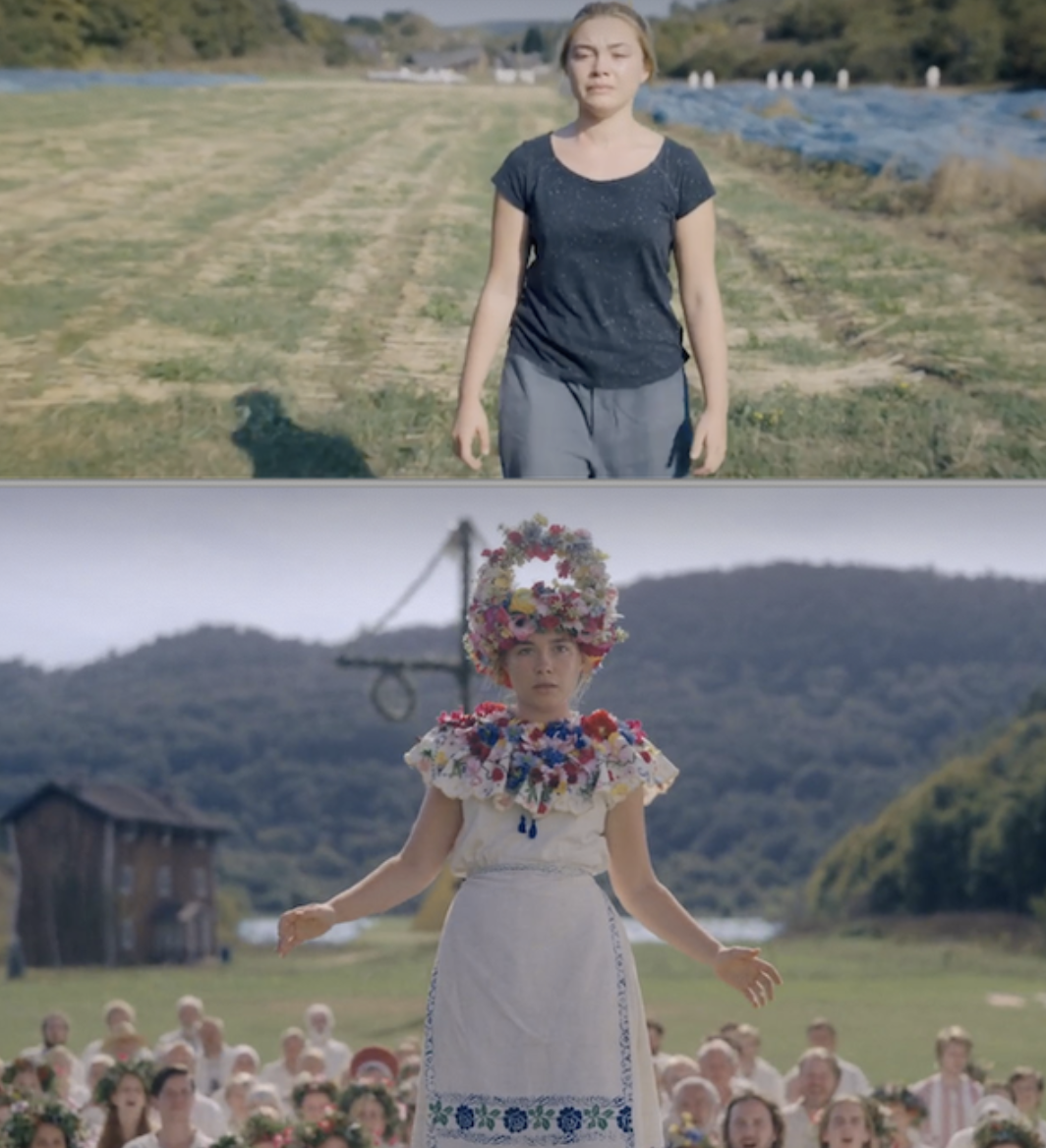 """Dani's clothes getting more colorful in """"Midsommar"""""""