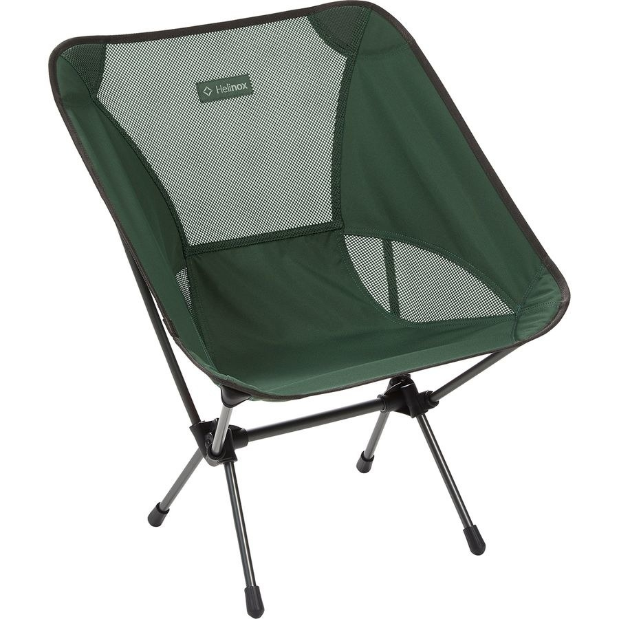 the camping chair displaying a mesh backing