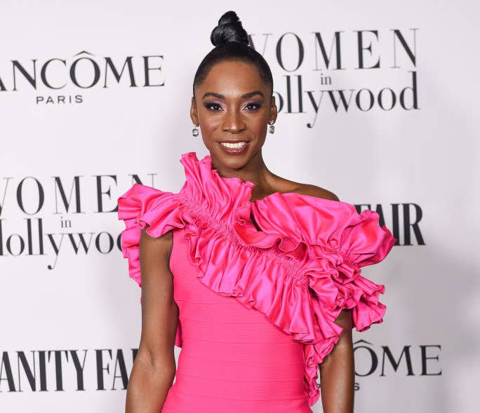 Angelica Ross attends the Vanity Fair and Lancôme Women in Hollywood celebration