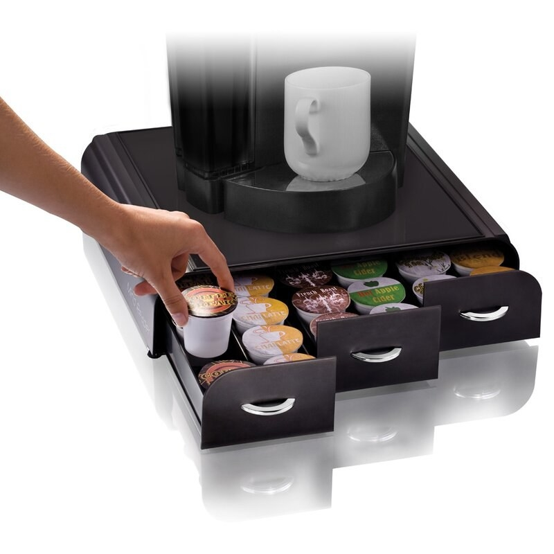 The coffee drawer with pods