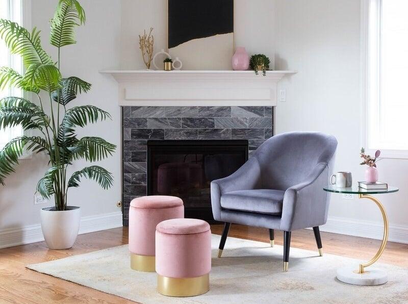 The pink ottoman set