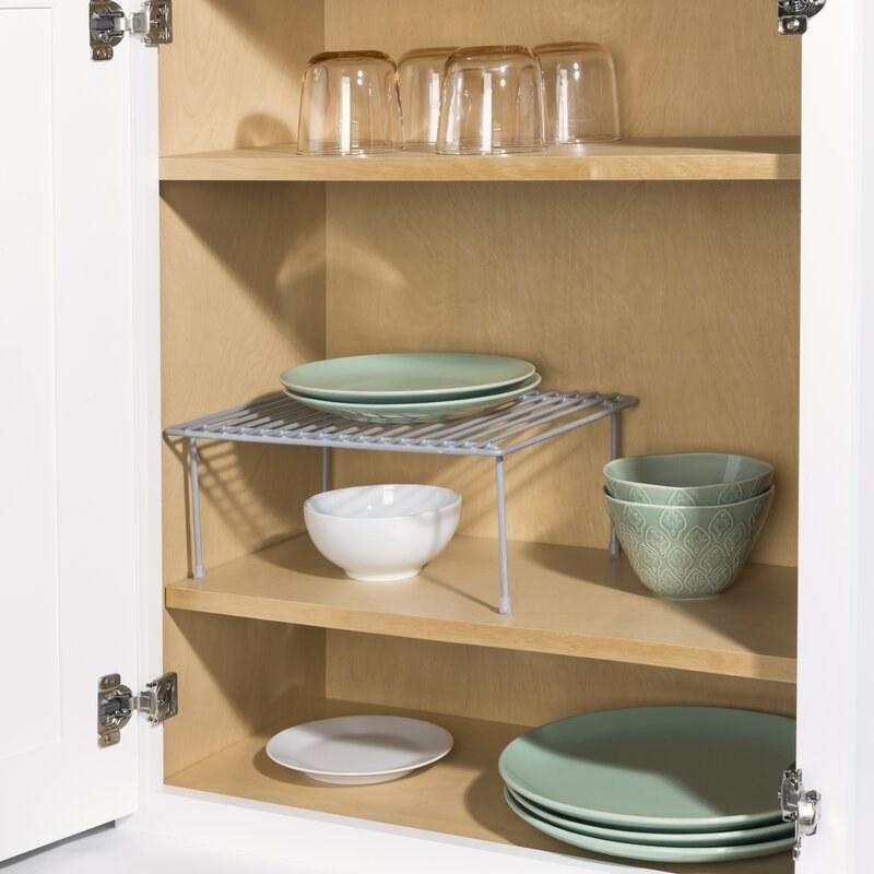 The shelf in a cabinet