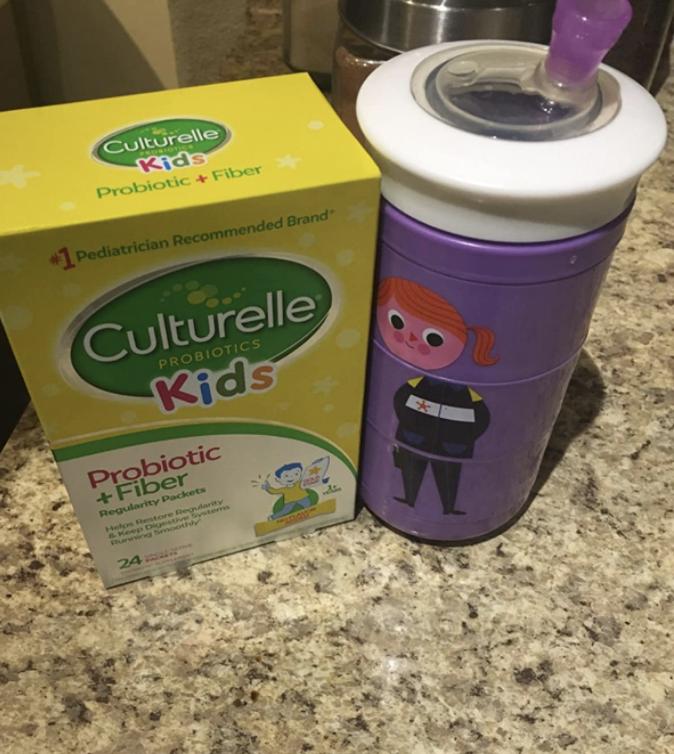 A box of Culturelle probiotics for kids.
