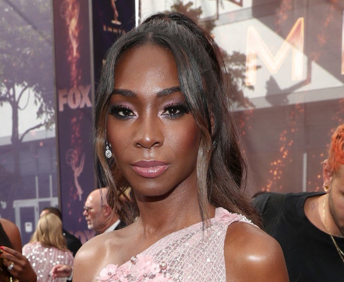Angelica Ross walks the red carpet during the 71st Annual Primetime Emmy Awards