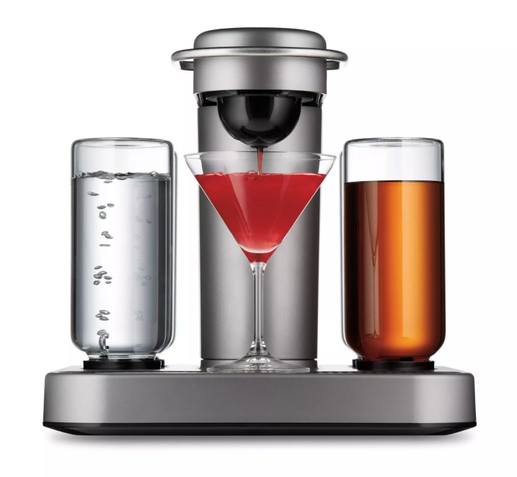 The silver cocktail machine