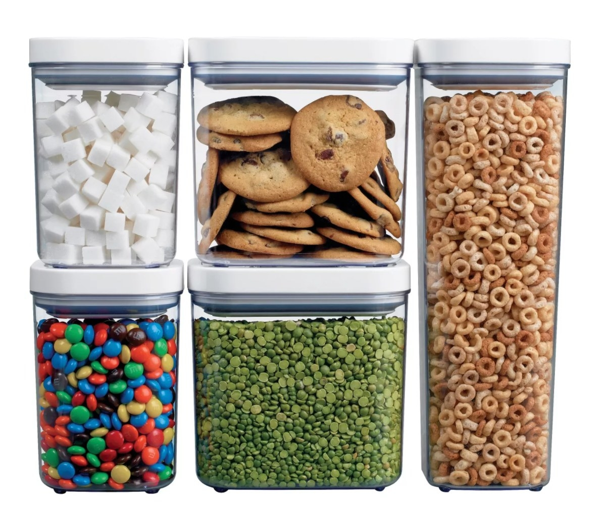 The clear pantry organizer set