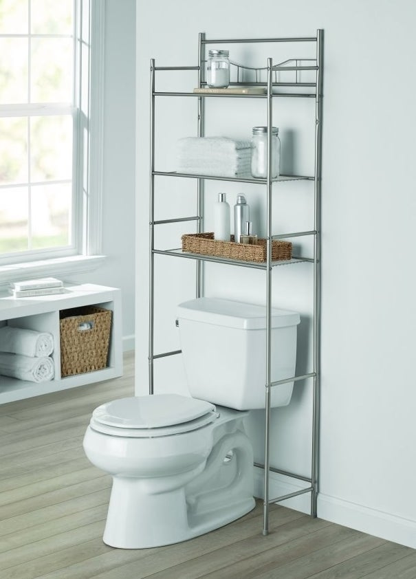 Over-the-toilet shelving