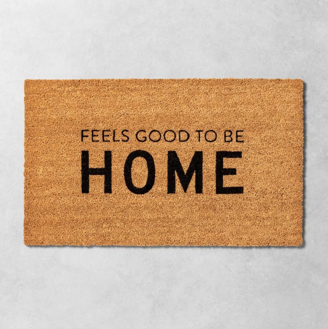 The tan welcome mat