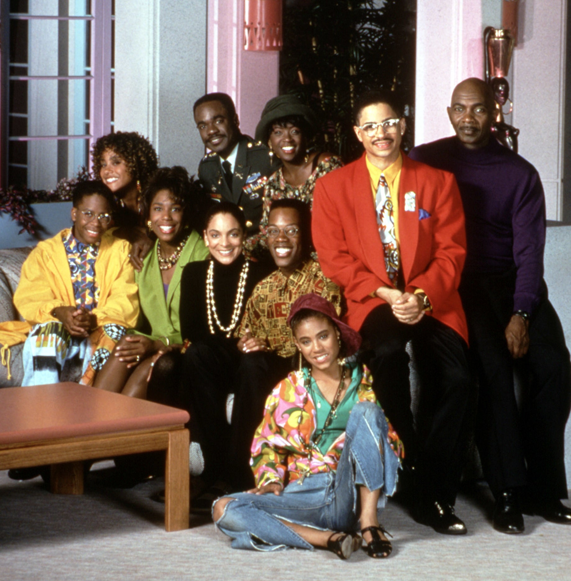 A publicity photo of the Season 6 cast of A Different World