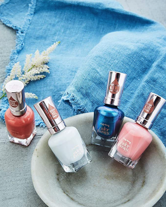 A product shot of the Sally Hansen nail polishes