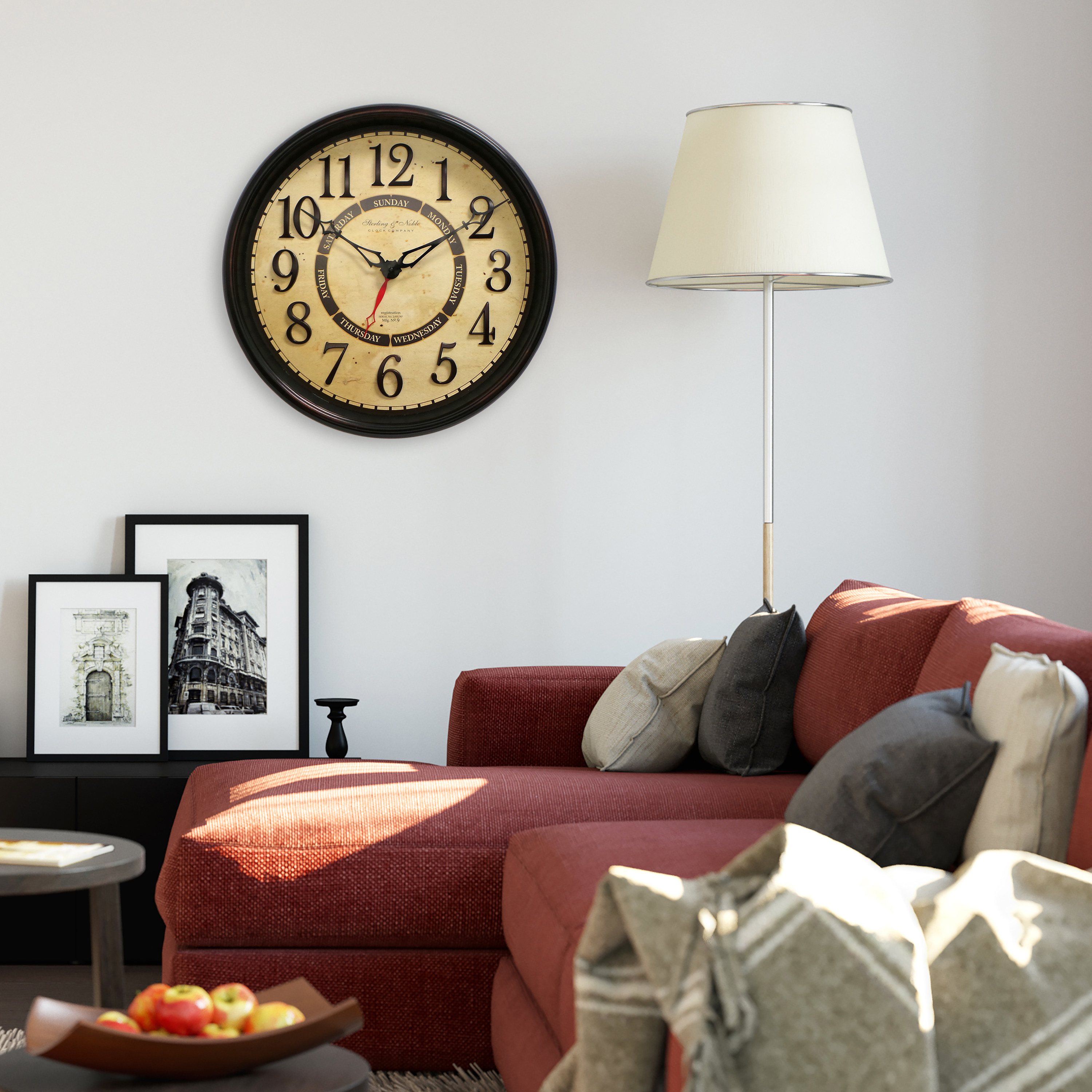 Decorative calendar clock