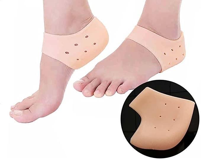 Nude coloured heel pads.