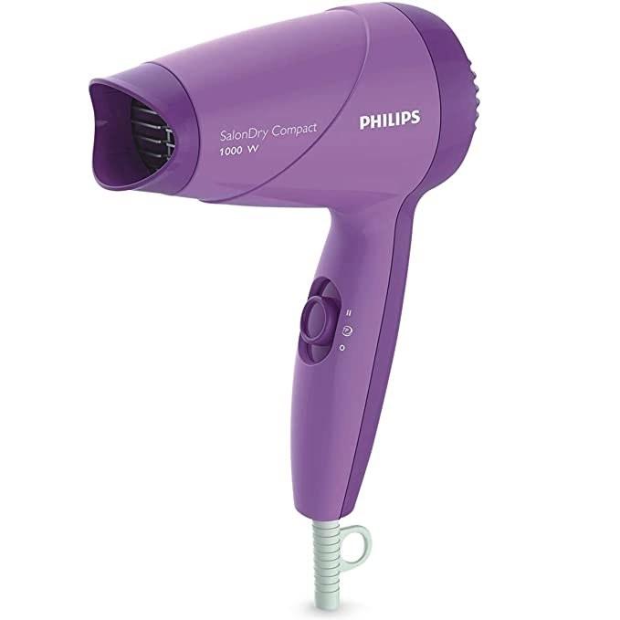 Purple hair dryer