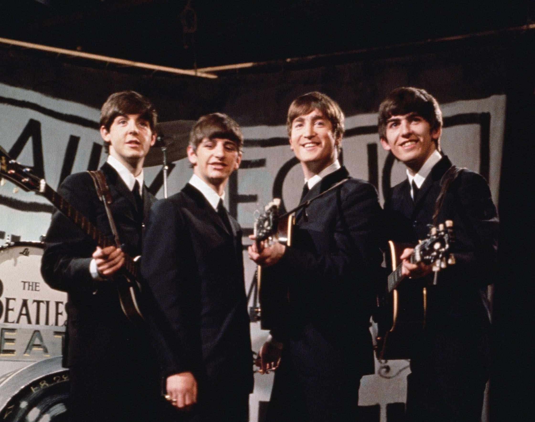 A photo of the Beatles in 1963