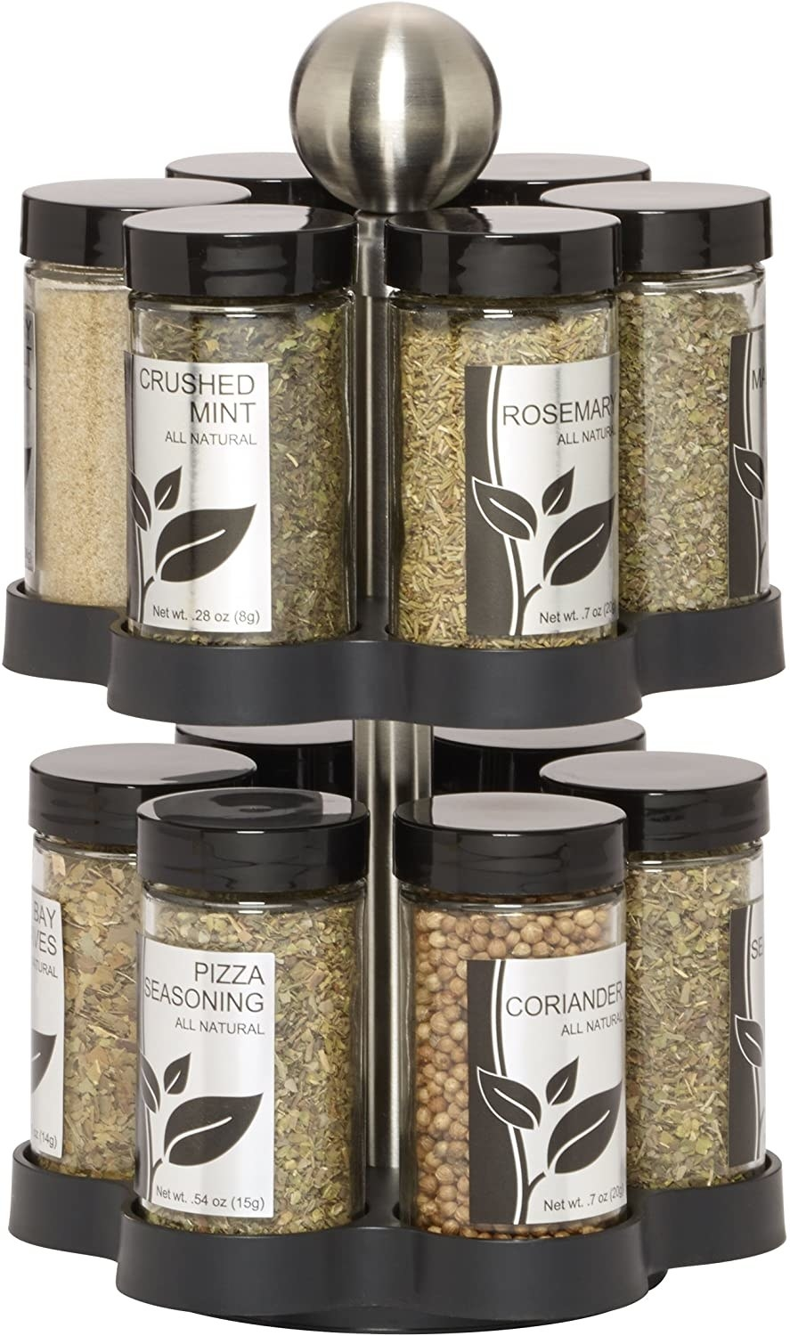 Spices in a carousel