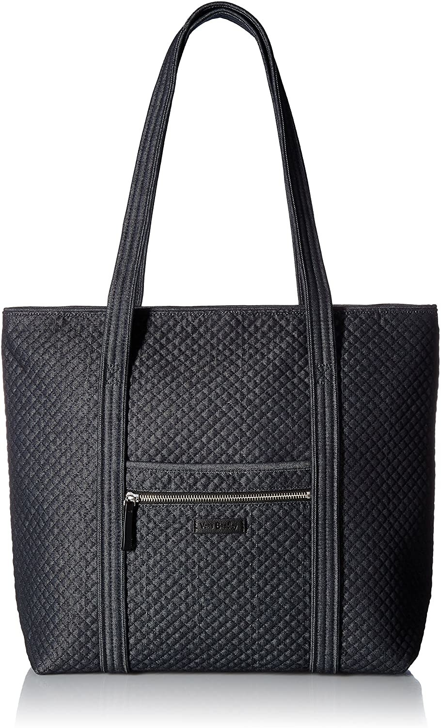 A quilted denim tote