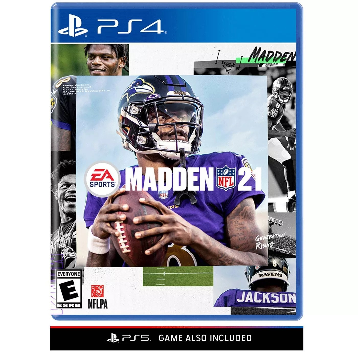 The PS4 EA Sports Madden NFL 21 video game with the PS5 game included