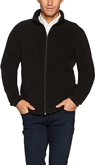 person in black long sleeve fleece zip up jacket