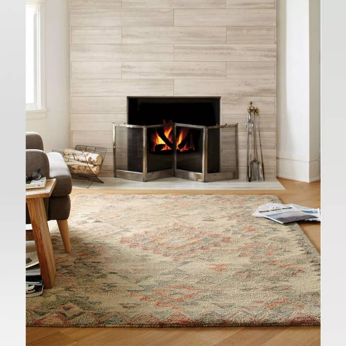 The geometric area rug