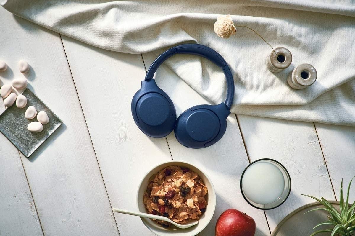the blue over the ear headphones