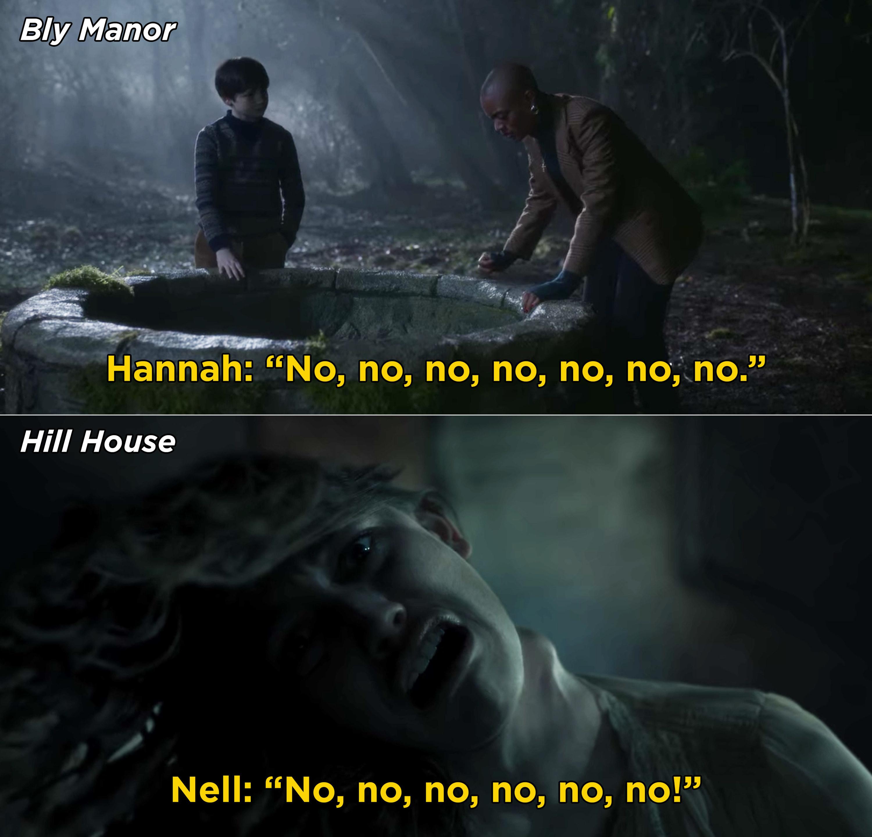 """Both Nell and Hannah saying, """"No, no, no, no, no"""""""
